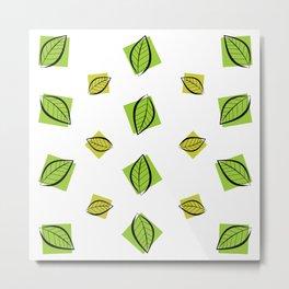 Foliage - minimal Metal Print