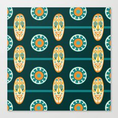 Pacific Mask Pattern Canvas Print