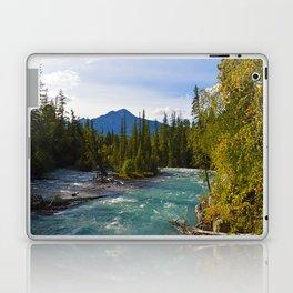 Maligne River & Pyramid Mountain in Jasper National Park, Canada Laptop & iPad Skin