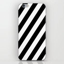 Diagonal Stripes Black & White iPhone Skin