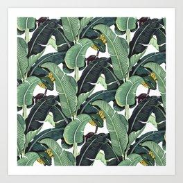banana leaf pattern Art Print