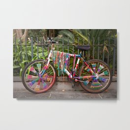 Bead Bike Metal Print