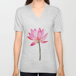 pink lotus flower Unisex V-Neck