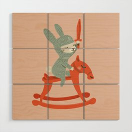 Rabbit Knight Wood Wall Art