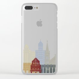 El Paso skyline poster Clear iPhone Case
