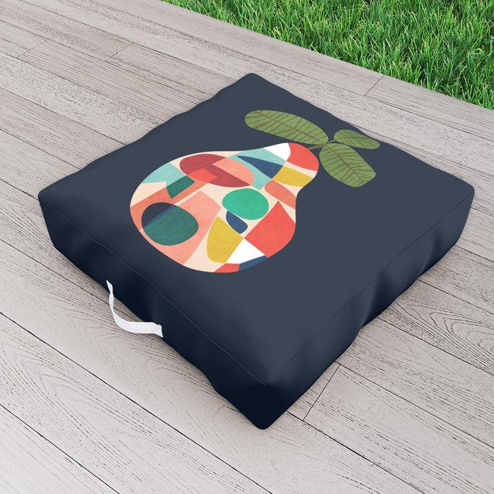 Fresh Pear Outdoor Floor Cushion