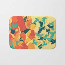 And A Little Girl Who Only Wished To Fly Bath Mat