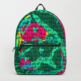 Life in text Backpack