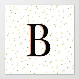 Letter B - Initial Canvas Print