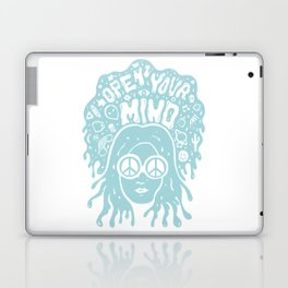 Open Your Mind in Mint Laptop & iPad Skin