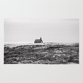 Black and White Photograph - Travel photography Rug