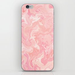 Blush pink abstract watercolor marble pattern iPhone Skin