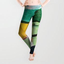 Hopeful[3] - a bright mixed media abstract piece Leggings