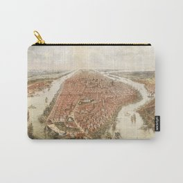 new york city old map Carry-All Pouch