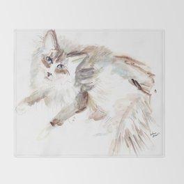 New York's Hottest Cat Throw Blanket
