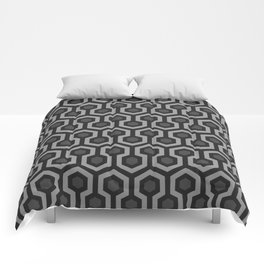 The Overlook Hotel - Carpet Pattern - Grayscale Comforters