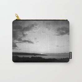 Black/White Sunset Carry-All Pouch