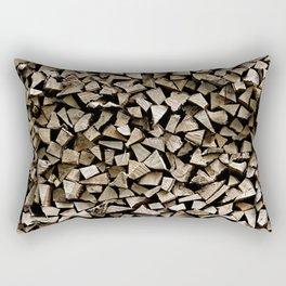 firewood pattern Rectangular Pillow