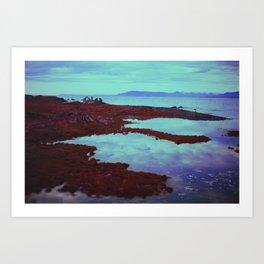 Azurean Expanse Art Print