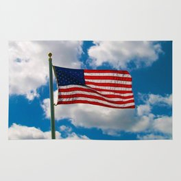 American Flag in Big Blue sky Rug