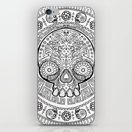 Skull mexican art from the Path to Mictlan iPhone Skin