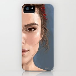 Keira Knightley portrait iPhone Case