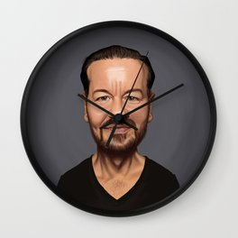 Celebrity Sunday ~ Ricky Gervais Wall Clock