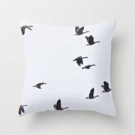 Birds -Scandinavian Minimalist Art Throw Pillow