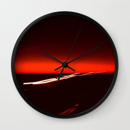 Night Lights Texas Drive-by Wall Clock