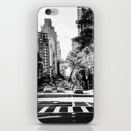 New York City Streets Contrast iPhone Skin