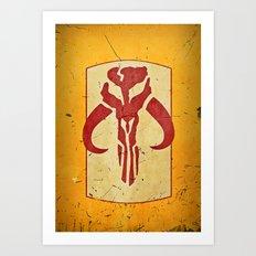 Mandalorian! (1 of 3) Art Print