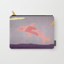 Pink Dolphin Carry-All Pouch