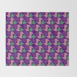 Clover&Nessie_Lavender&Mauve Throw Blanket