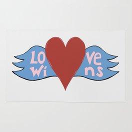 Love Wins!  A Valentine to Love. Rug