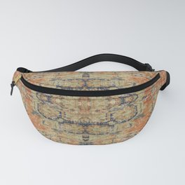 Vintage Woven Coral and Blue Fanny Pack