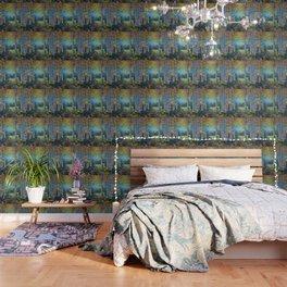 Nocturne Blue - Palette Knife Wallpaper
