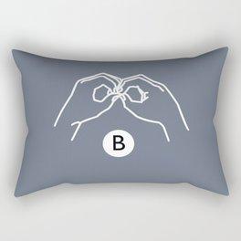 B Rectangular Pillow