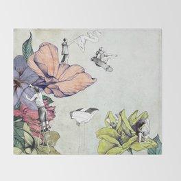 Flower forest Throw Blanket