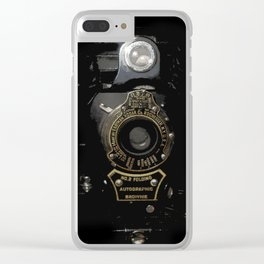 VINTAGE AUTOGRAPHIC BROWNIE FOLDING CAMERA Clear iPhone Case