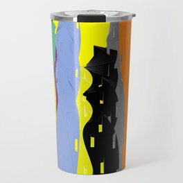Abstract Cityscape Colour Travel Mug