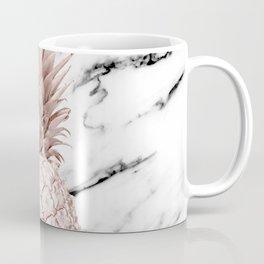 Pineapple Rose Gold Marble Coffee Mug
