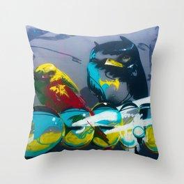 Batbird&robin Throw Pillow