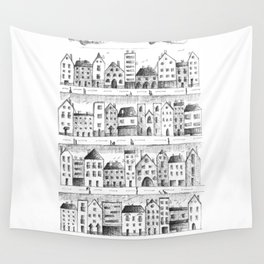 Cityscape from baloon flight Wall Tapestry