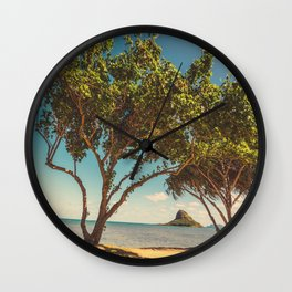Hawaiian landscape Wall Clock