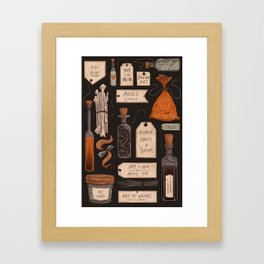 Spooky Halloween Odds and Ends Framed Art Print