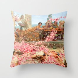 The Roses of Heliogabalus by Sir Lawrence Alma-Tadema Throw Pillow