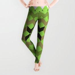 Green Quilt Leggings