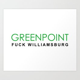 Greenpoint Art Print
