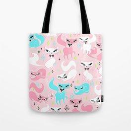 Swanky Kittens on Pink Tote Bag