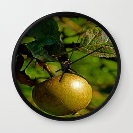 hanging apple Wall Clock